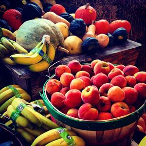 新鲜水果背景