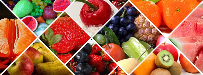 新鲜水果食材背景