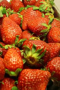 新鲜草莓背景