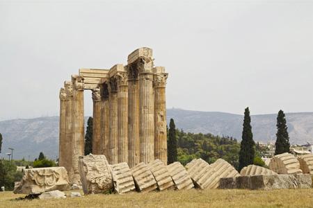 雅典神庙建筑风光