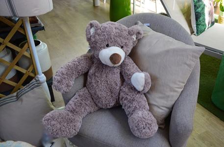 椅子上的布偶熊摄影