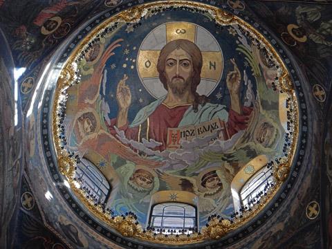 宗教教父壁画
