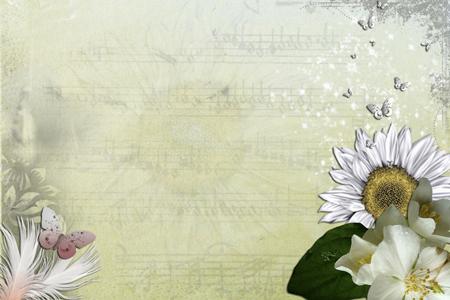 怀旧背景下的花朵