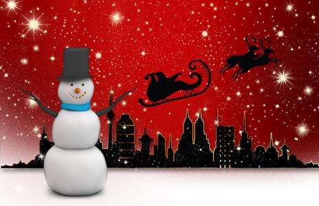 红色闪光圣诞背景