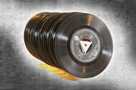 唱片与怀旧背景