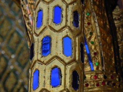 金色蓝色花纹背景
