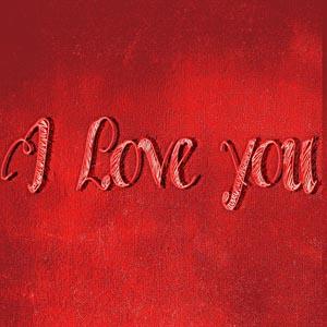 红色怀旧背景下的字母