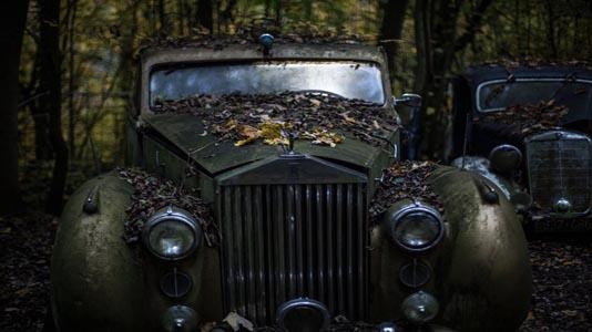 复古汽车背景