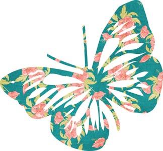 蝴蝶上的花朵