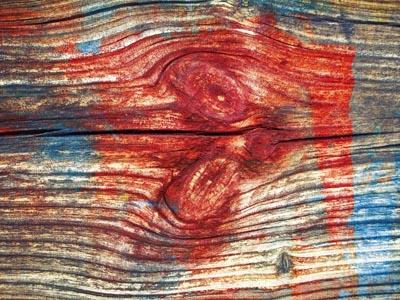 红色蓝色木纹条纹
