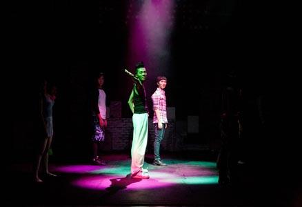 舞台上的人物摄影