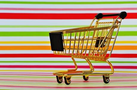 超市购物车背景