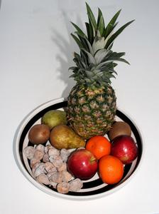 盘子里的水果