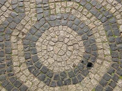 圆形图案地面背景