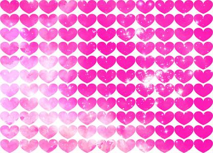红色爱心底纹背景