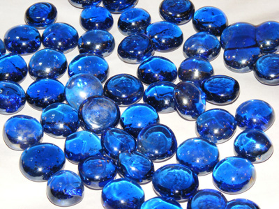 蓝色水晶珠宝背景
