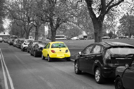 黄色汽车背景