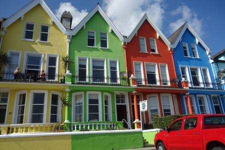 彩色房子建筑摄影