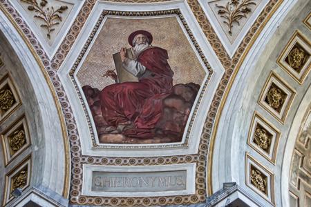 顶堂上的油画