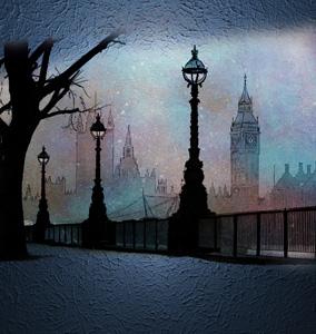 雪天城市壁画