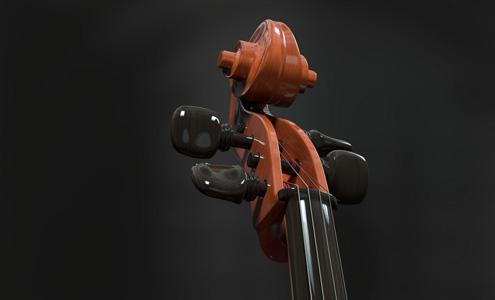 大提琴的琴头