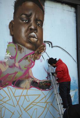 油画师与人物壁画